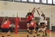 TBirts Middle Blocker; courtesy of Black Girls Volley/Karen Beitzell